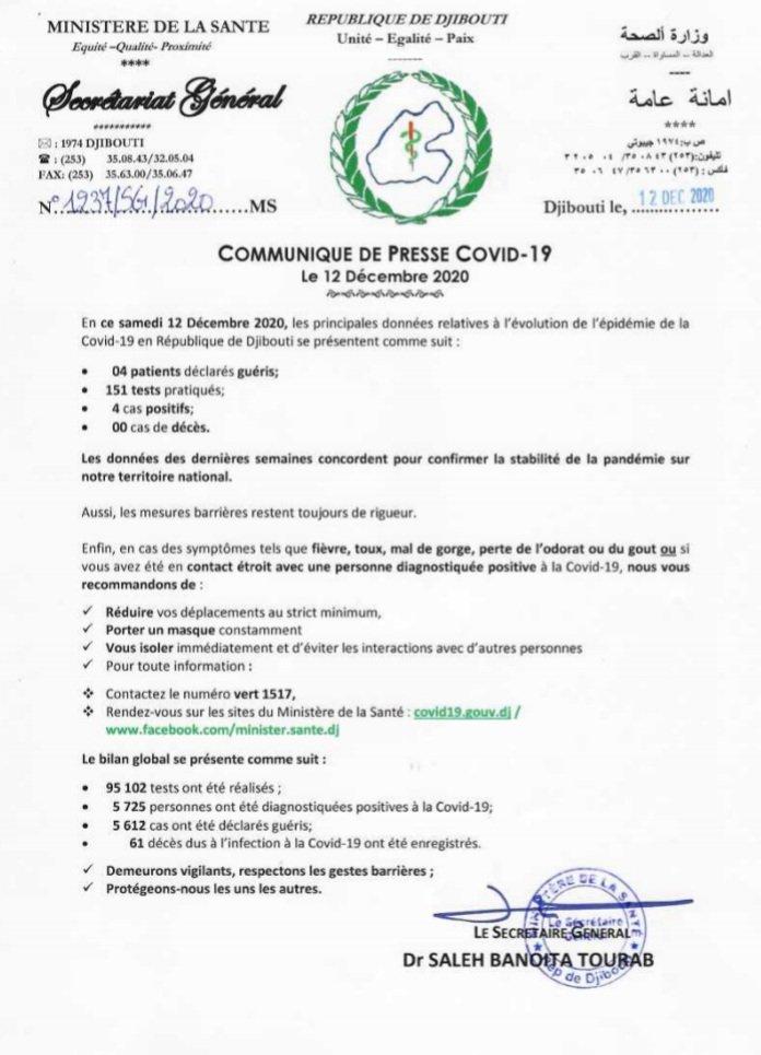 Ministere de la Santé de Djibouti