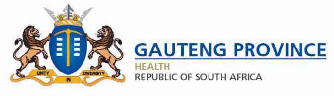 Gauteng Department of Health (GDoH), South Africa