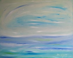 Northern Lights. Ocean's Silence. Violet Sleep. Author Bennu, 80 x 100 cm, oil on canvas.jpg