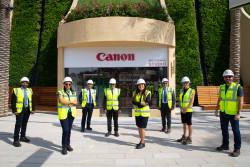 Canon's Senior Management team at the Expo 2020 Dubai site.jpg