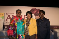 L-R Hon Bathabile Dlamini (MP) South African Minister of Women and HE Dr Ameenah Gurib-Fakim Former
