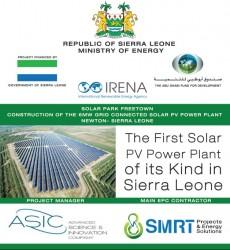 Commencement by H.E. The President of Sierra Leone of Solar Park Freetown 4.jpg