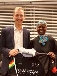 Doug Hampshire with Ghana Rugby Board Memeber Rafatu Inusah.jpg