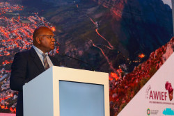 The Executive Mayor of Cape Town, Mr Dan Plato speaking at AWIEF2019.jpg