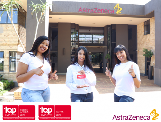AstraZeneca is recognised as a Top Employer 2021 in South Africa and Kenya