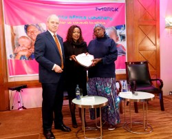 3 - Dr Karl Ludwig Kley, CEO of Merck with Hon Joyce Lay, Member of Parliament for Taita Taveta Keny