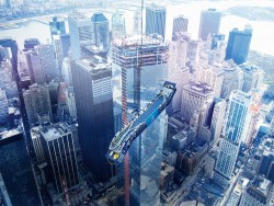 Escalators being Towed from the One World Trade Center in New York.jpg