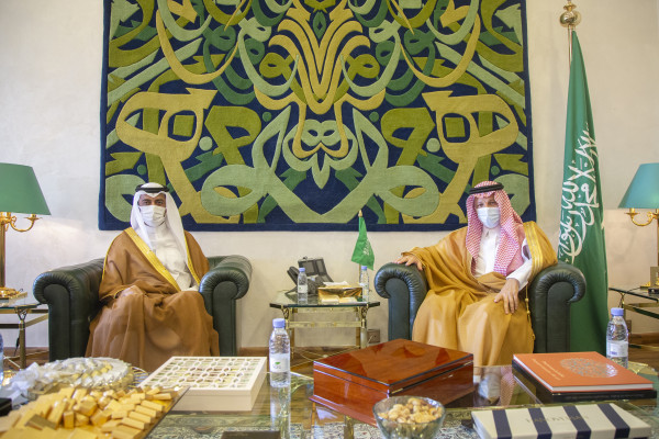 Saudi Minister of State for African Affairs Meets Qatar's Ambassador