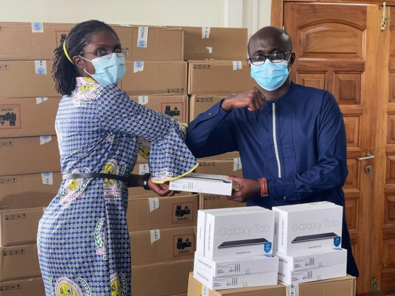 Coronavirus: WHO Ghana Supports Ongoing COVID-19 Vaccine Rollout with Digital Tablets