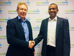 Left Graeme Oxby, CEO at Lebara Right, Ismail Ahmed, CEO at WorldRemit.jpg