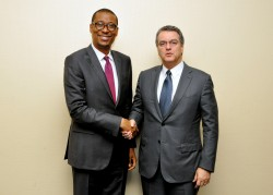 The Minister of Industry, Trade and Investment Dr. Okechukwu Enelamah and Director General of the Wo