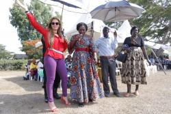 Dr. Rasha Kelej, CEO Merck Foundation and Hon. Sarah Opendi, Minister of State of Health, Uganda add