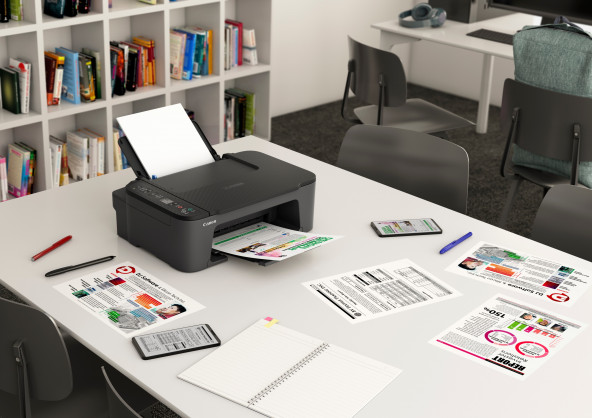 Print, scan and copy effortlessly with the Canon PIXMA TS3440, a compact and easy-to-use entry-level printer