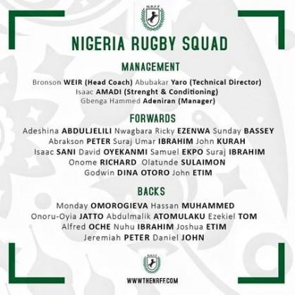 Nigeria Rugby Football Federation (NRFF)