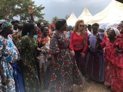 Dr.Rasha Kelej, CEO Merck Foundation and Hon. Sarah Opendi, Minister of State of Health, Uganda with