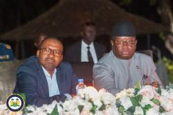 HE Julius Maada Bio and VP Dr Mohamed Juldeh Jalloh at the inaugural media cocktail.jpeg
