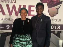 L-R HE Mrs Zanele Mbeki Former First Lady of South Africa and Irene Ochem AWIEF Founder and CEO.JPG