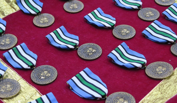UNPOL officers serving with UNMISS receive prestigious United Nations medal for their service